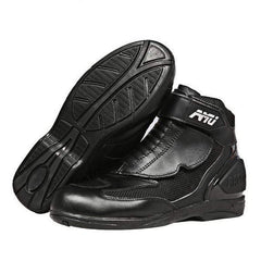Amu Xbt15 Leather Motorcyle Boots-CRUISER BOOTS-CRUISER-black-8-Helm Zone
