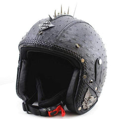 KCO STEAM PUNK 3/4 OPEN FACE RETRO CRUISER MOTORCYCLE HELMET-CRUISER HELMETS-CRUISER-KCO-0666-S-Helm Zone