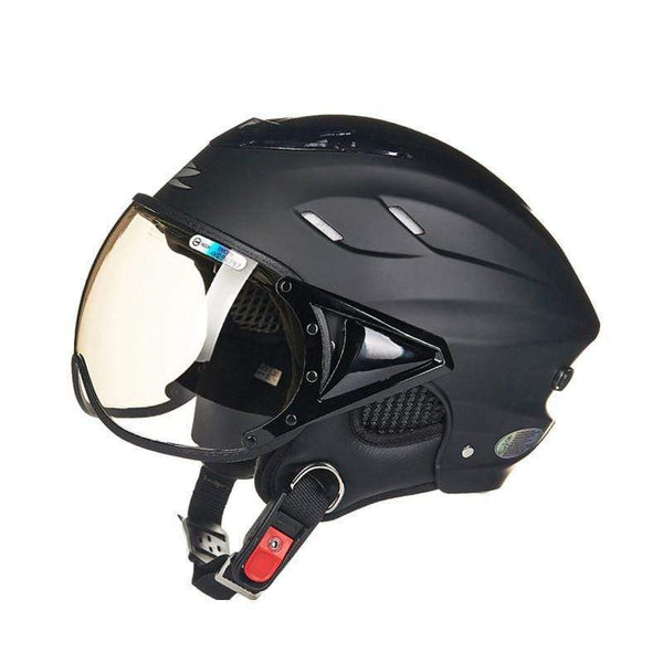 ZEUS 125-B OPEN FACE MOTORCYCLE HELMETS-CRUISER HELMETS-CRUISER-Matt black-L-Helm Zone