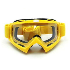 HEINMOS FLEXIBLE MULTI LAYER MOTOCROSS GOGGLES WITH CLEAR LENSES-MOTO GOGGLES-EYEWEAR-Yellow-Helm Zone