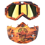 Possbay Multi Color Detachable Motorcycle Face Masks with Goggles-MOTO GOGGLES-EYEWEAR-Helm Zone