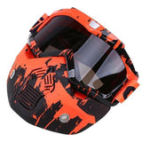 Possbay Multi Color Detachable Motorcycle Face Masks with Goggles-MOTO GOGGLES-EYEWEAR-Style 1-Helm Zone