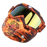 Possbay Multi Color Detachable Motorcycle Face Masks with Goggles-MOTO GOGGLES-EYEWEAR-Style 11-Helm Zone