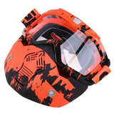 Possbay Multi Color Detachable Motorcycle Face Masks with Goggles-MOTO GOGGLES-EYEWEAR-Style 2-Helm Zone