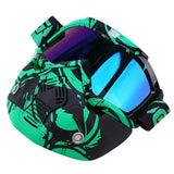 Possbay Multi Color Detachable Motorcycle Face Masks with Goggles-MOTO GOGGLES-EYEWEAR-Style 3-Helm Zone