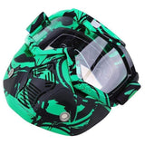 Possbay Multi Color Detachable Motorcycle Face Masks with Goggles-MOTO GOGGLES-EYEWEAR-Style 4-Helm Zone