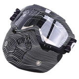 Possbay Multi Color Detachable Motorcycle Face Masks with Goggles-MOTO GOGGLES-EYEWEAR-Style 6-Helm Zone