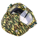 Possbay Multi Color Detachable Motorcycle Face Masks with Goggles-MOTO GOGGLES-EYEWEAR-Style 8-Helm Zone