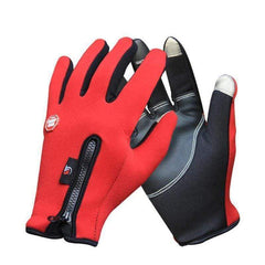Clb Ffg-05 Windproof Warm Touch Screen Cycling Gloves-MTB GLOVES-MTB-Red-S-Helm Zone