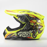 Ahp Full Face Downhill Helmets with 3 X Gifts-MTB HELMETS-MTB-Fluorescent yellow 4-S-Helm Zone