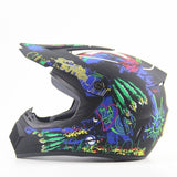 Ahp Full Face Downhill Helmets with 3 X Gifts-MTB HELMETS-MTB-Matte Black 5-S-Helm Zone