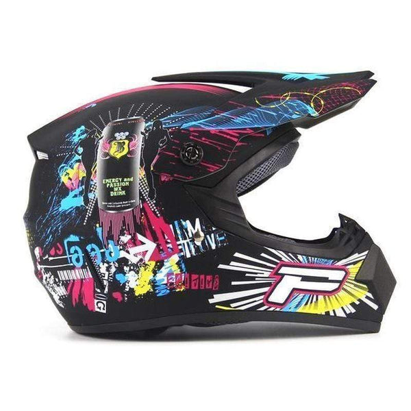 Ahp Full Face Downhill Helmets with 3 X Gifts-MTB HELMETS-MTB-Matte Black 6-S-Helm Zone