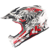Thh T42 Full Face Downhill Helmets-MTB HELMETS-MTB-White Graffiti-S-Helm Zone