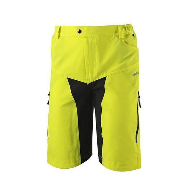 Arsuxeo Ao-1202/2 Quick Dry Mtb Shorts for Men-MTB SHORTS-MTB-2 Yellow-XL-Helm Zone