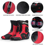 Riding Tribe Speed Waterproof Leather Motorcycle Racing Boots-OFF-ROAD BOOTS-OFF-ROAD-Helm Zone