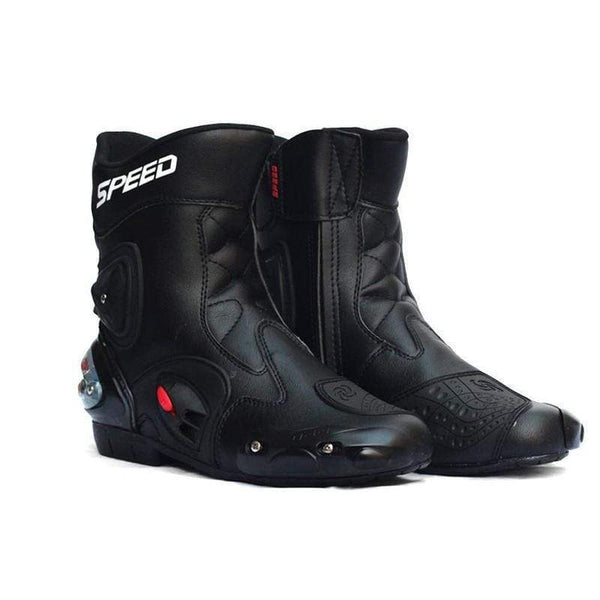 Riding Tribe Speed Waterproof Leather Motorcycle Racing Boots-OFF-ROAD BOOTS-OFF-ROAD-BLACK-7-Helm Zone