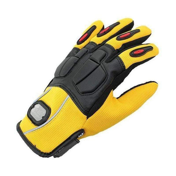 Pro Biker Motorcycle Gloves for Men-OFF-ROAD GLOVES-OFF-ROAD-Yellow-M-Helm Zone