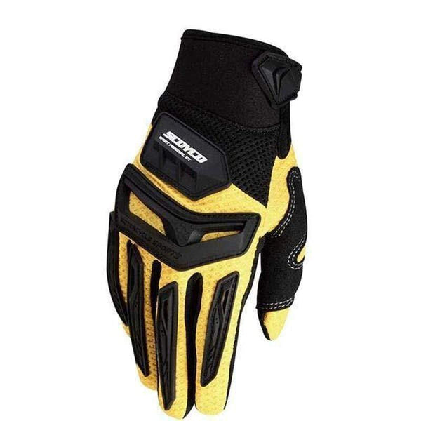 Scoyco Mx54 Motorcycle Gloves-OFF-ROAD GLOVES-OFF-ROAD-Yellow-M-Helm Zone