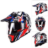 Ls2 Pioneer V2 Full Face Off-Road Helmets with Sun Shield-OFF-ROAD HELMETS-OFF-ROAD-Helm Zone