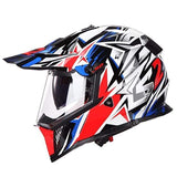 Ls2 Pioneer V2 Full Face Off-Road Helmets with Sun Shield-OFF-ROAD HELMETS-OFF-ROAD-blue star-XL-Helm Zone