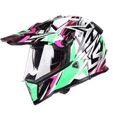 Ls2 Pioneer V2 Full Face Off-Road Helmets with Sun Shield-OFF-ROAD HELMETS-OFF-ROAD-green star-XL-Helm Zone