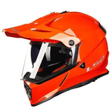 Ls2 Pioneer V2 Full Face Off-Road Helmets with Sun Shield-OFF-ROAD HELMETS-OFF-ROAD-orange-L-Helm Zone