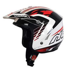 Nenki Nk-606 Open Face Motocross Helmets-OFF-ROAD HELMETS-OFF-ROAD-White Red B-L-Helm Zone