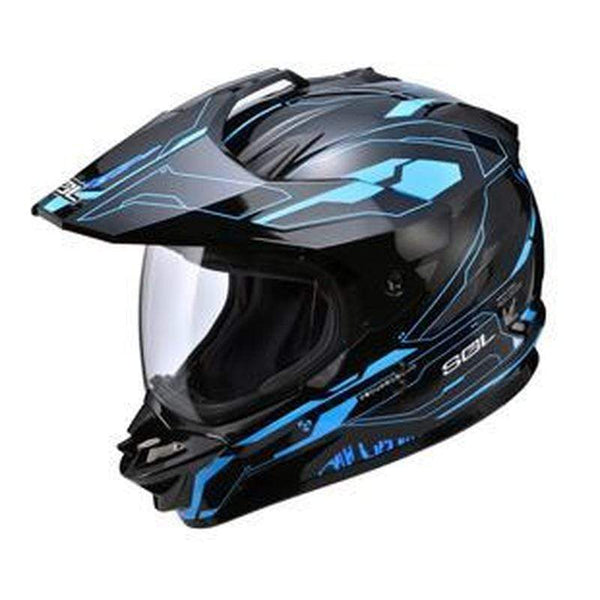 SOL SS-1 FULL FACE MULTIPURPOSE MOTOCROSS HELMETS-OFF-ROAD HELMETS-OFF-ROAD-black blue-S-Helm Zone