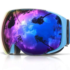 Copozz Gog-2181 Magnetic Ski Goggles-SNOW GOGGLES-SNOW SPORTS-Helm Zone