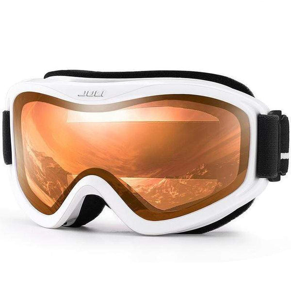 Max Juli Bbs Uv400 Double Layer Snowboarding Goggles-SNOW GOGGLES-EYEWEAR-C11 WHITE ORANGE-Helm Zone