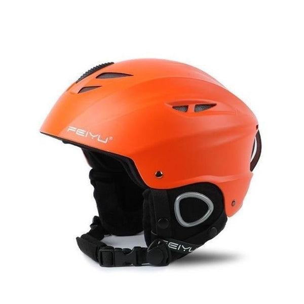 Feiyu Fy207 Open Face Snow Helmets-SNOW HELMETS-SNOW SPORTS-Orange-For Head 52 To 55cm-Helm Zone