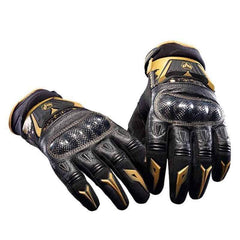 Duhan Ds-03 Leather Street Motocross Racing Gloves-STREET GLOVES-STREET-Gold-M-Helm Zone