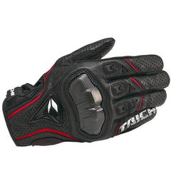 Taichi Rst390 Leather Motorcycle Racing Gloves-STREET GLOVES-STREET-Red-M-Helm Zone