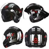 Beon T-702 Flip up Motorcycle Helmet Red Black-STREET HELMETS-STREET-Helm Zone