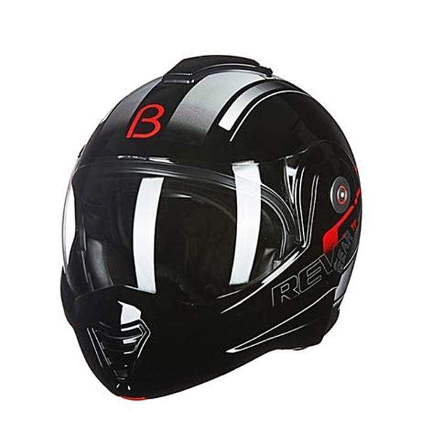 Beon T-702 Flip up Motorcycle Helmet Red Black-STREET HELMETS-STREET-Black red-M-Helm Zone