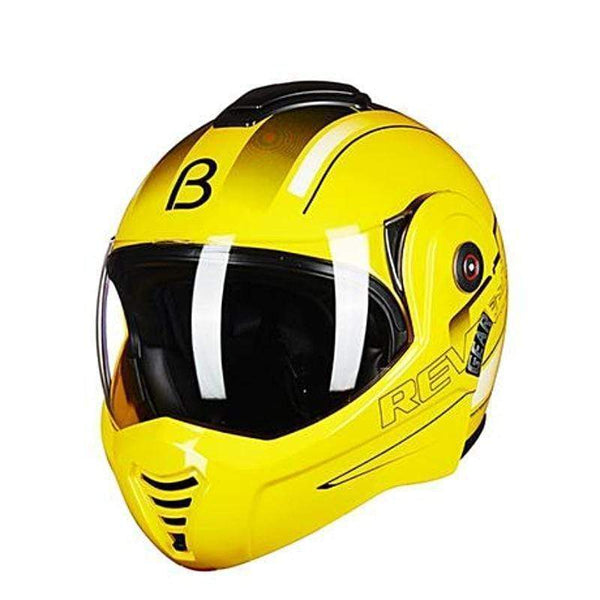 Beon T-702 Flip up Motorcycle Helmet-STREET HELMETS-STREET-Yellow-M-Helm Zone