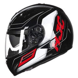 Hjc Tr-1 Full Face Motorcycle Helmets with Double Lens-STREET HELMETS-STREET-SKYRIDE MC1-L-Helm Zone