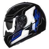 Hjc Tr-1 Full Face Motorcycle Helmets with Double Lens-STREET HELMETS-STREET-SKYRIDE MC2-L-Helm Zone