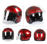 Jiekai Jk512 3/4 Open Face Motorcycle Helmets with Sun Shield-STREET HELMETS-STREET-Helm Zone