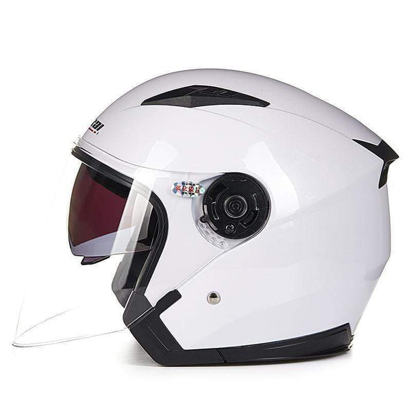 Jiekai Jk512 3/4 Open Face Motorcycle Helmets with Sun Shield-STREET HELMETS-STREET-9-L-Helm Zone