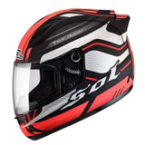 Sol 68 S11 Full Face Motorcycle Helmets-STREET HELMETS-STREET-Red Black-S-Helm Zone