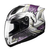 Sol 68 S11 Full Face Motorcycle Helmets-STREET HELMETS-STREET-White Purple-S-Helm Zone