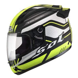 Sol 68 S11 Full Face Motorcycle Helmets-STREET HELMETS-STREET-Yellow Black-S-Helm Zone