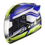 Sol 68 S11 Full Face Motorcycle Helmets-STREET HELMETS-STREET-Yellow Blue-S-Helm Zone