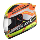 Sol 68 S11 Full Face Motorcycle Helmets-STREET HELMETS-STREET-Yellow Orange-S-Helm Zone