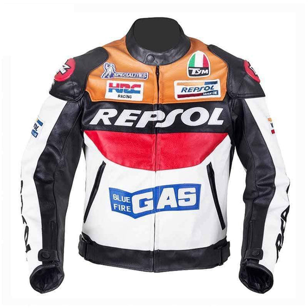Duhan Repsol Vs02 Moto Gp Racing Jackets-STREET JACKETS-STREET-Orange-M-Helm Zone
