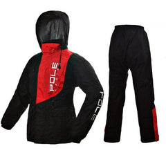 RIDING TRIBE AR806 WINDPROOF RAIN SUITS-STREET RAIN SUITS-STREET-Red-M-Helm Zone