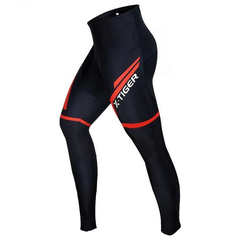 X-TIGER BREATHABLE CYCLING PANTS WITH GEL PAD FOR MEN-TRIATHLON PANTS-TRIATHLON-Red-L-Helm Zone