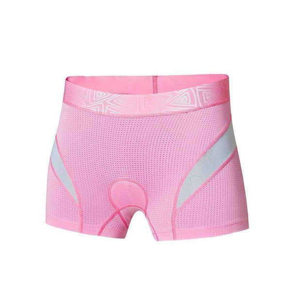 SANTIC WL7C06019 WOMEN'S PADDED MTB SHORTS-TRIATHLON SHORTS-TRIATHLON-Pink-L-Helm Zone