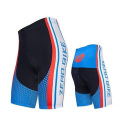 Zerobike Zrobmb Men's 4 D Gel Padded Cycling Shorts-TRIATHLON SHORTS-TRIATHLON-BLUE RED-L-Helm Zone